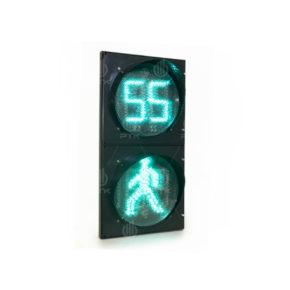 Пешеходный светофор с обратным отсчётом 02 для сайта