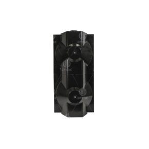 Чёрный объёмный корпус 2 секции сзади пешеходный светофор П.1.1